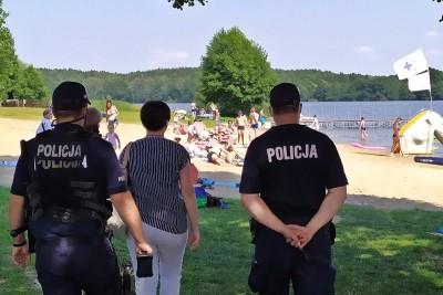policja sanepid plaża
