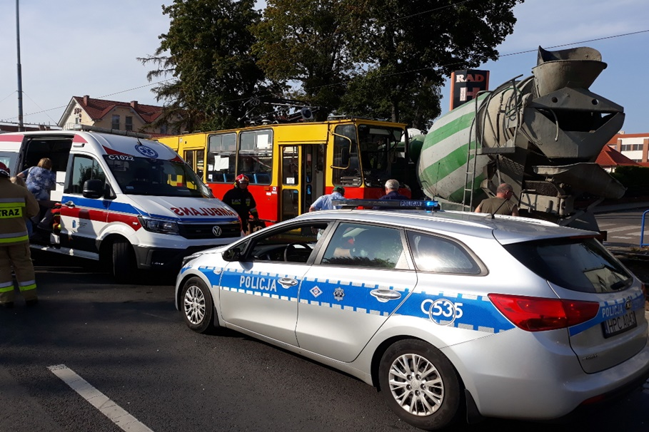 23-09-2020_wypadek Chełmińska-Tytoniowa Grudziądz_KMP Grudziądz