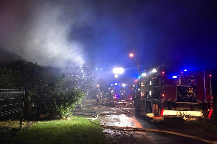 31-08-2020_pożar budynku mieszkalnego pow. Inowrocławski_OSP Janikowo