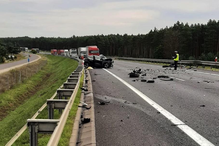 8-09-2020_wypadek_ S10 Toruń - KMP Toruń
