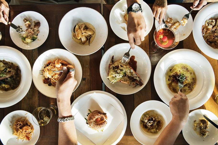 Dinner table full of options