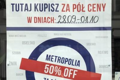 metropolia za pol ceny, poniedzialek - red