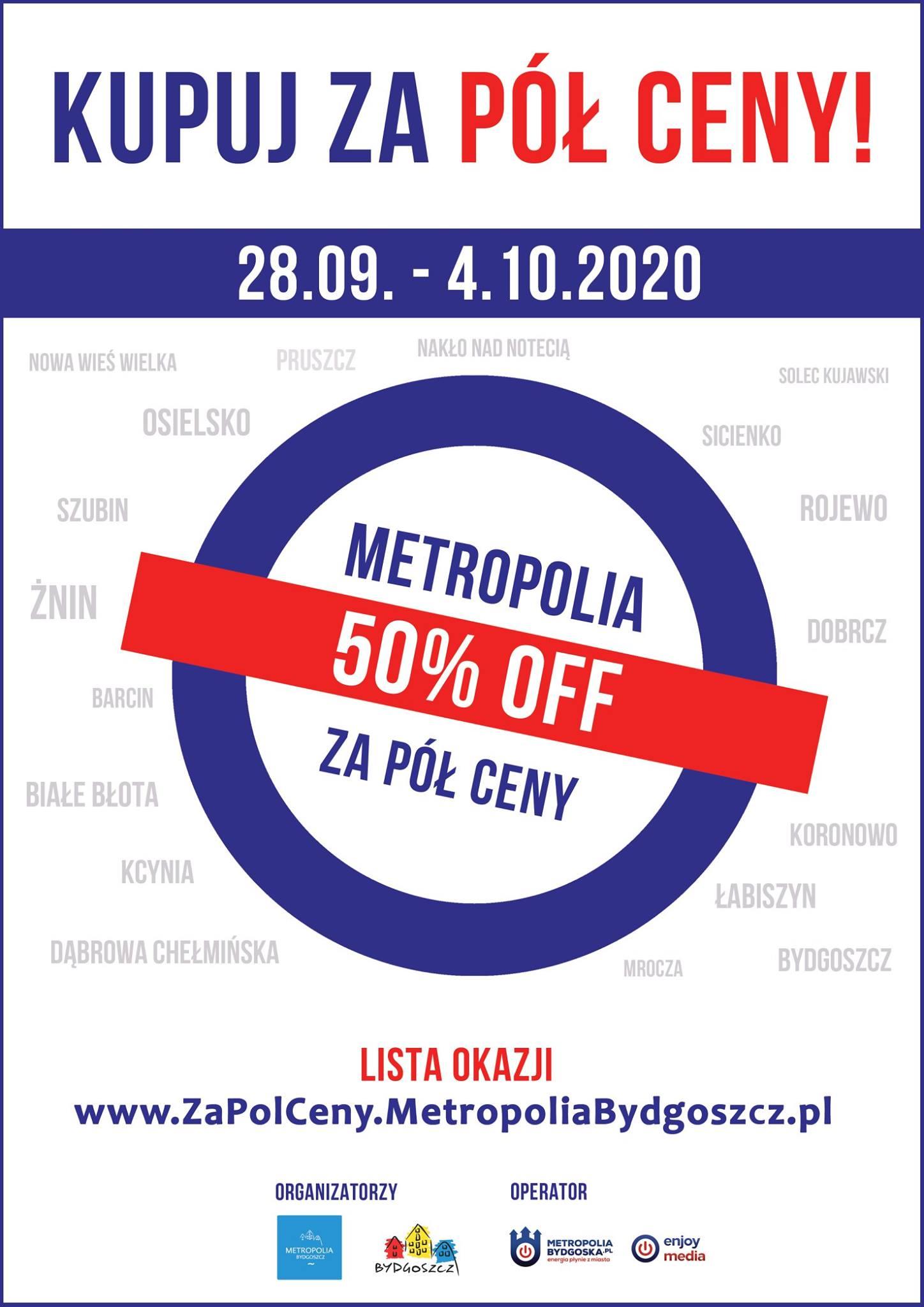 plakat Metropolia za pół ceny 2020