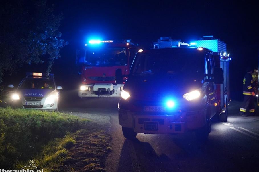 straż pożarna, policja_na sygnale_wypadek_kujawsko-pomorskie - MR