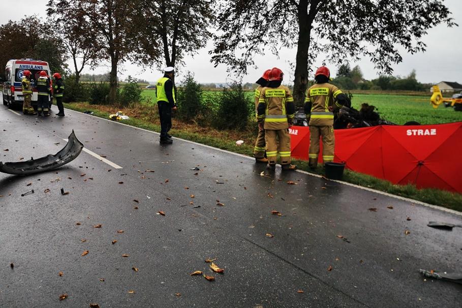 9-10-2020_wypadek DW560_Obórki-pow.brodnicki - KPP Brodnica