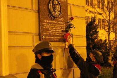 10-11-2020_ Harcerze_Ozdobienie tablic niepodległości_Święto Niepodległości_Bydgoszcz - SF (23)