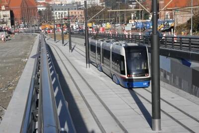 20-11-2020_budowa_linia tramwajowa_Kujawska Bydgoszcz_przejazd testowy_tramwaj - SF (9)