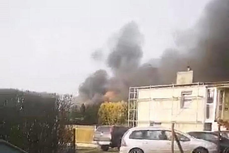 24-11-2020_pożar warsztatu samochodowego_Żnin_nadesłane