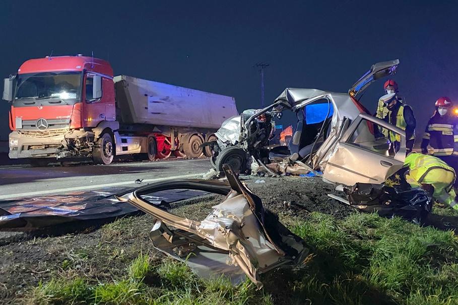 3-11-2020_wypadek_DK91_Grzywna_Pomoc Drogowa Truck&Bus J&J Hejnowicz Toruń-1