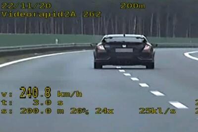 autostrada A1_przekroczenie prędkości_wideorejestrator_KPP Świecie