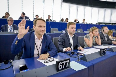Radowslaw SIKORSKI in the EP  in Strasbourg