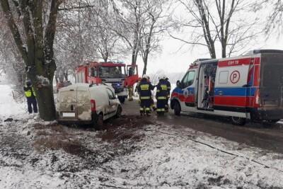 8-01-2021_wypadek Niegibalice_pow. radziejowski_KPP Radziejów-1