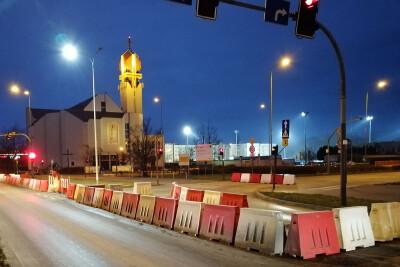 most Uniwersytecki zamknięty
