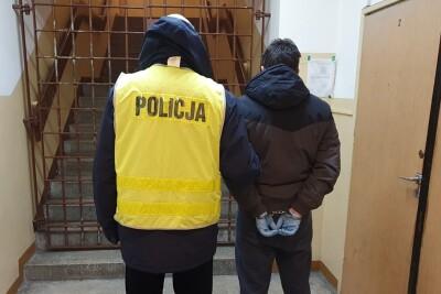 zatrzymany, policja - kmp wloclawek