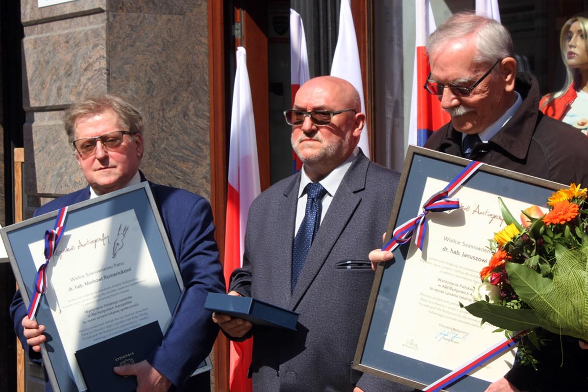 prof. Janusz Kutta, Stanisław Błażejewski, Marek Romaniuk
