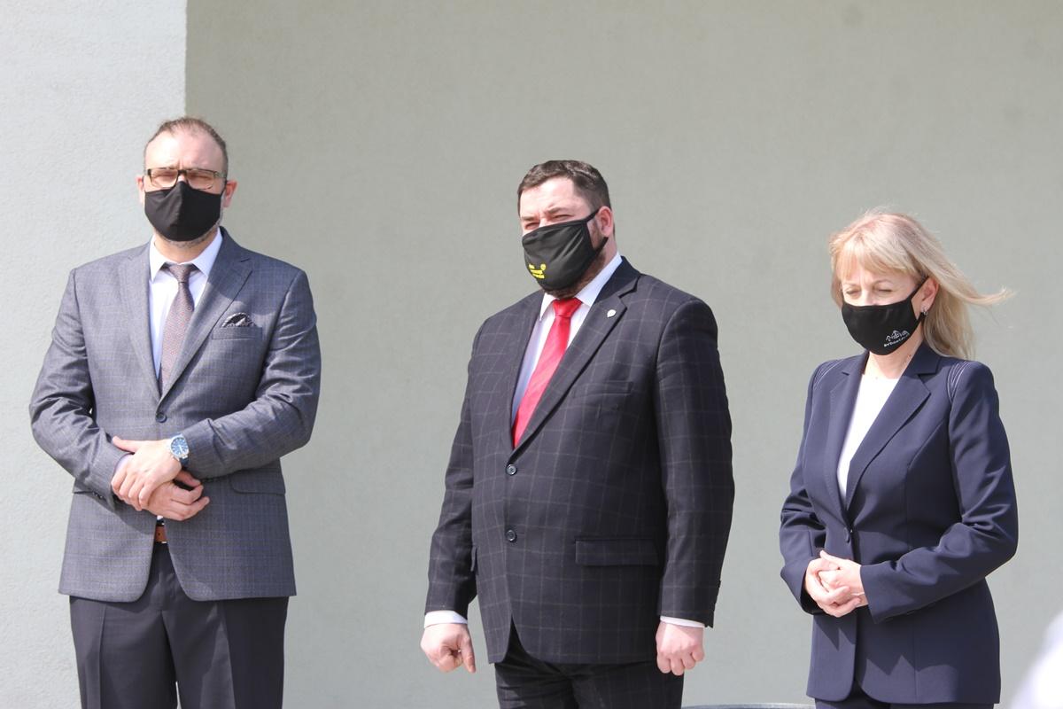 Iwona Waszkiewicz, prof. Marek Adamski, Karol Jurkowski