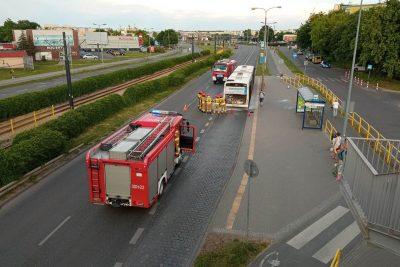 pożar autobusu bydgoszcz