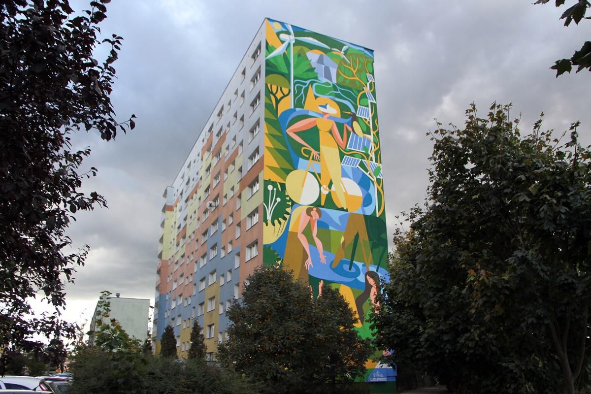 Mural Nowowiejskiego Bydgoszcz
